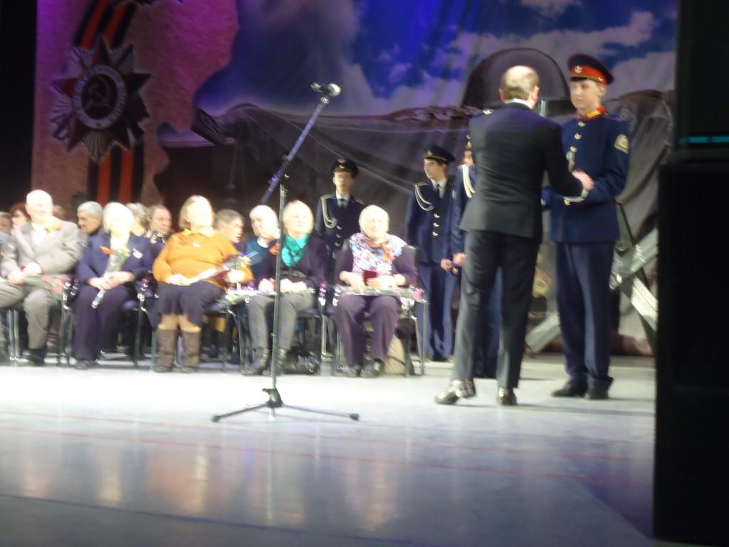 Торжественная встреча ветеранов-блокадников, посвященная 70-летию снятия блокады Ленинграда